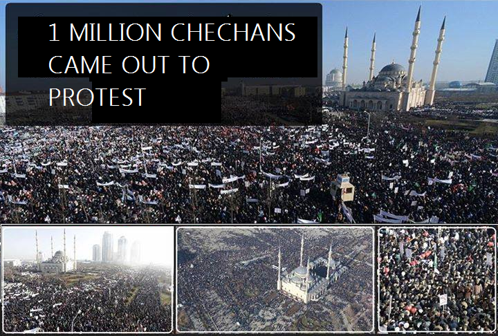 GLIMPSES OF MILLION MARCH IN CHECHNYA